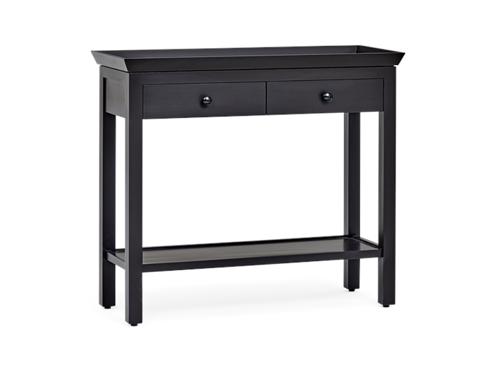 Aldwych small console Warm Black 3quarter