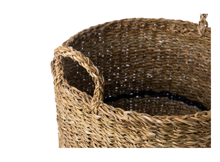 Redford log basket, medium, handle