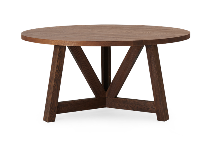 Arundel 150 Round Table Darkened Oak_Side