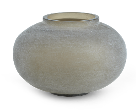Alconbury Round Vase Small Grey_Front