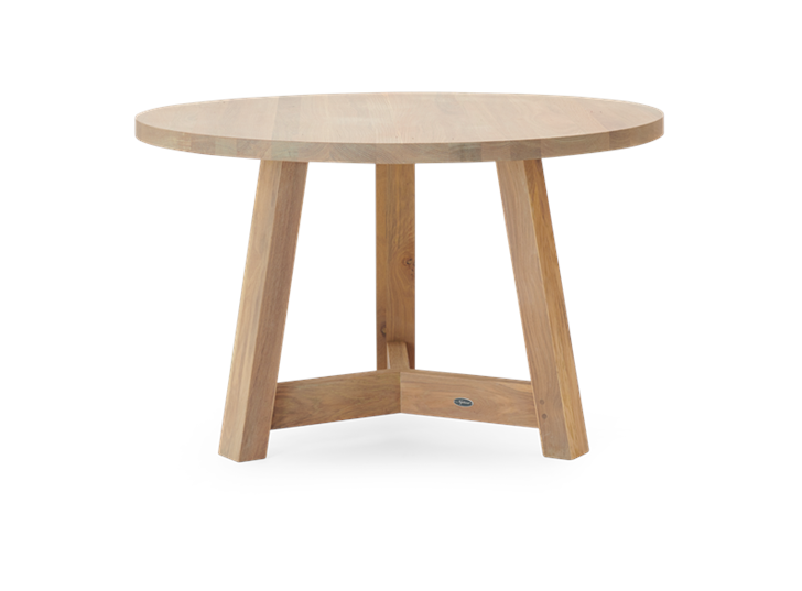 Arundel 120 Round Table Natural Oak_Side