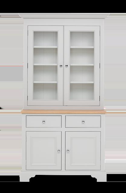 Chichester 3ft6 Glazed Rack Dresser Top Front