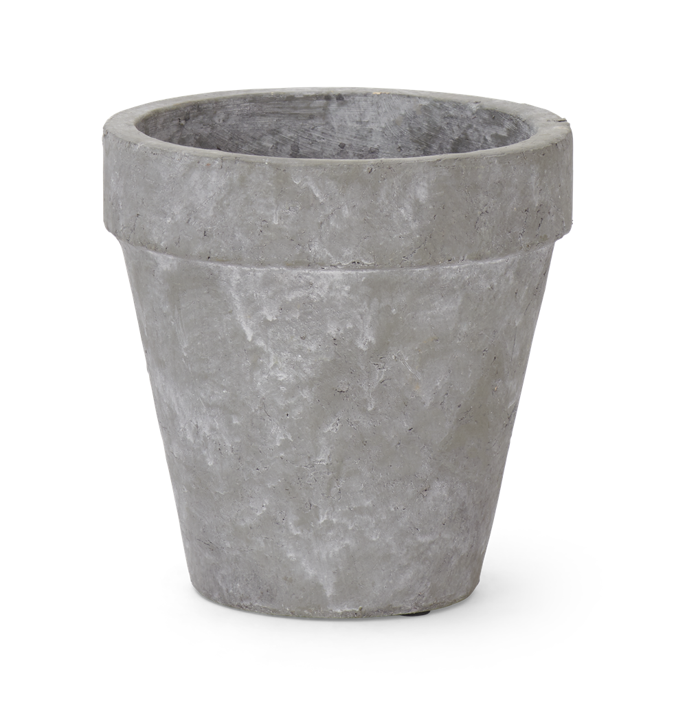 Tarragon Pot Large Pale Cement Front