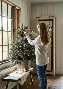 Tree dressing with model