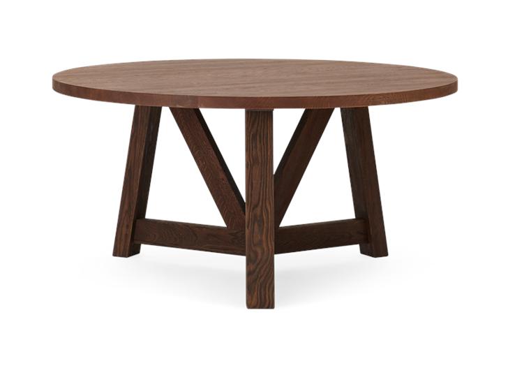 Arundel 150 Round Table Darkened Oak_Front