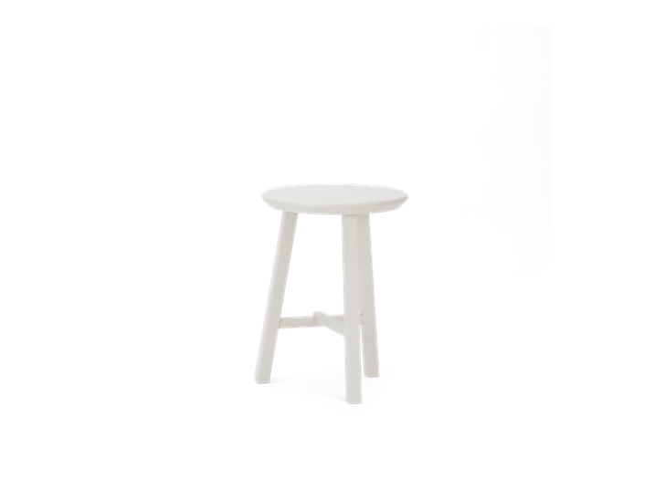 Northwich Painted Stool Silver Birch_3Quarter