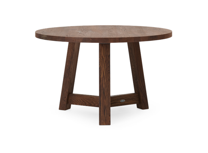 Arundel 120 Round Table Darkened Oak_3Quarter