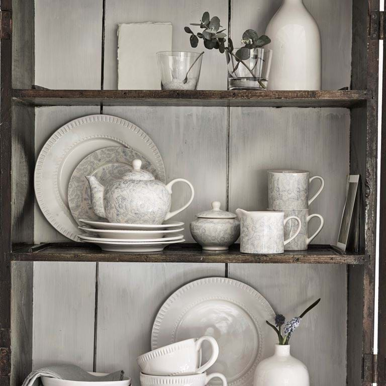 Olney crockery in old cabinet