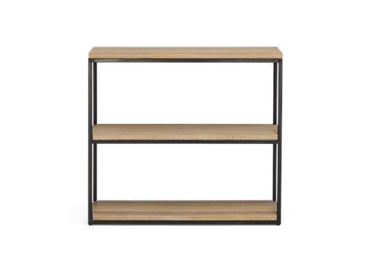 Carter 92 Fitted Shelves Black Steel _ Dark Vintage Oak Front copy