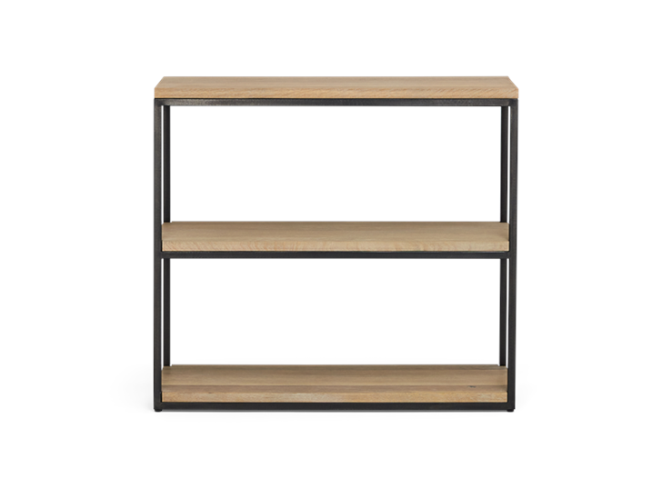 Carter 92 Fitted Shelves Black Steel _ Dark Vintage Oak Front copy