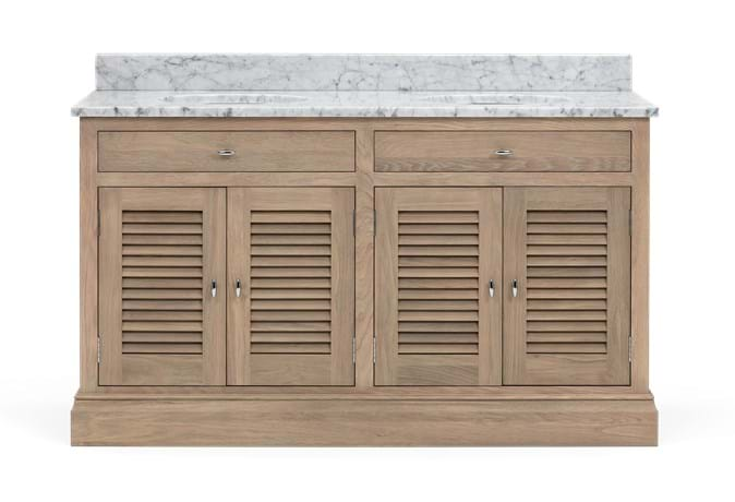 Edinburgh 1490 Dbl Undermount Washstand With Basin-D-Door-VO-Vintage Oak Front