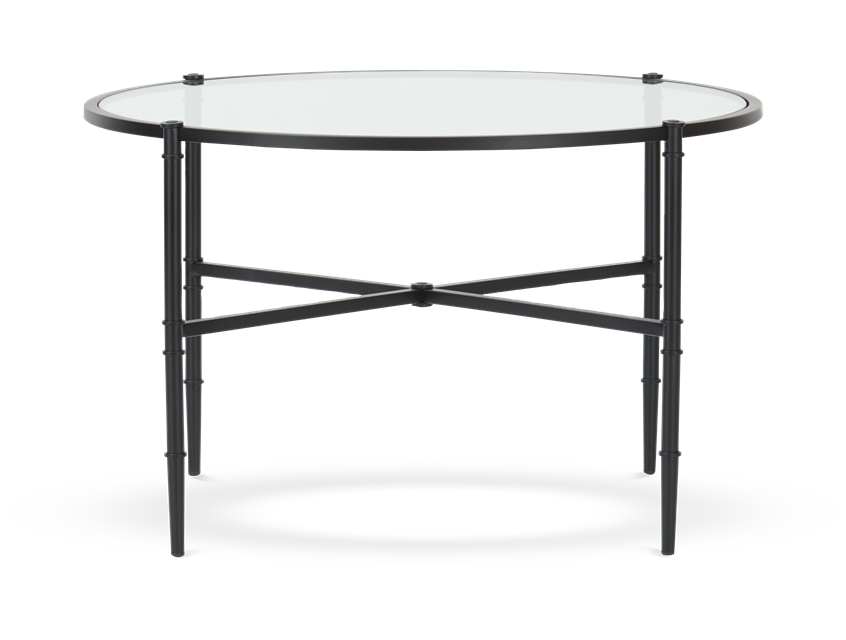 Coniston 75 Low Round Coffee Table Black Bronze_Front