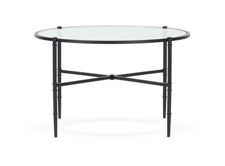 Coniston 75 Low Round Coffee Table Black Bronze_Front