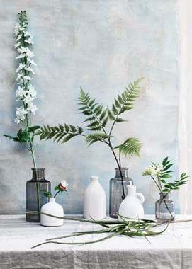 Spring flowers in vases