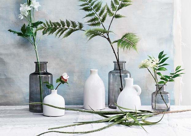 castleford bud bottle vase grey