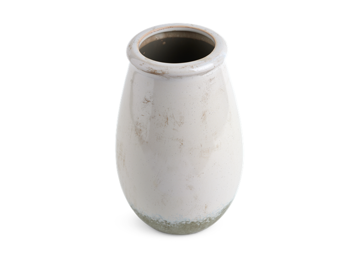 Whitton Small Vase Snow_Top