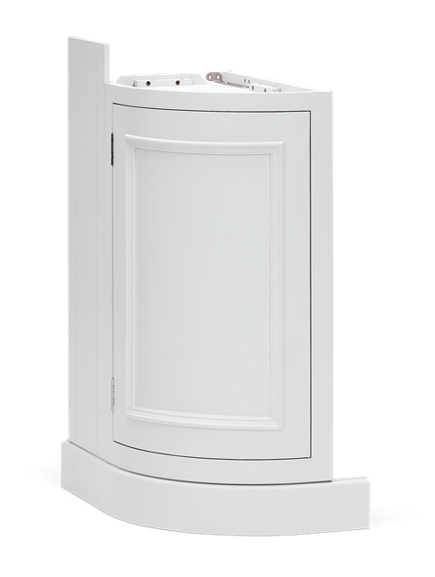 Chichester 346 Base Cabinet Curved Left-Shell-Shell 3Qa