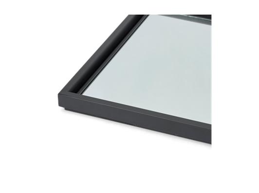 Carter 84 Rectangular Mirror - Black Steel 4
