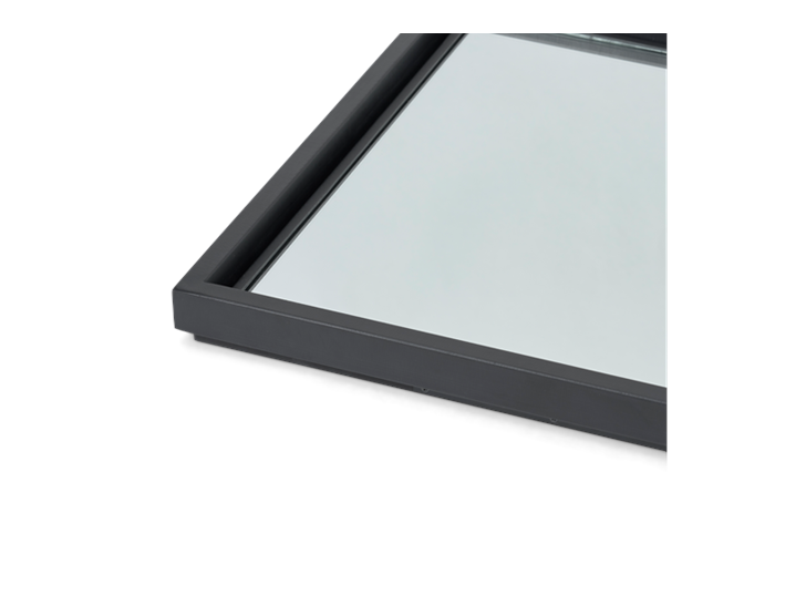 Carter 84 Rectangular Mirror - Black Steel 4