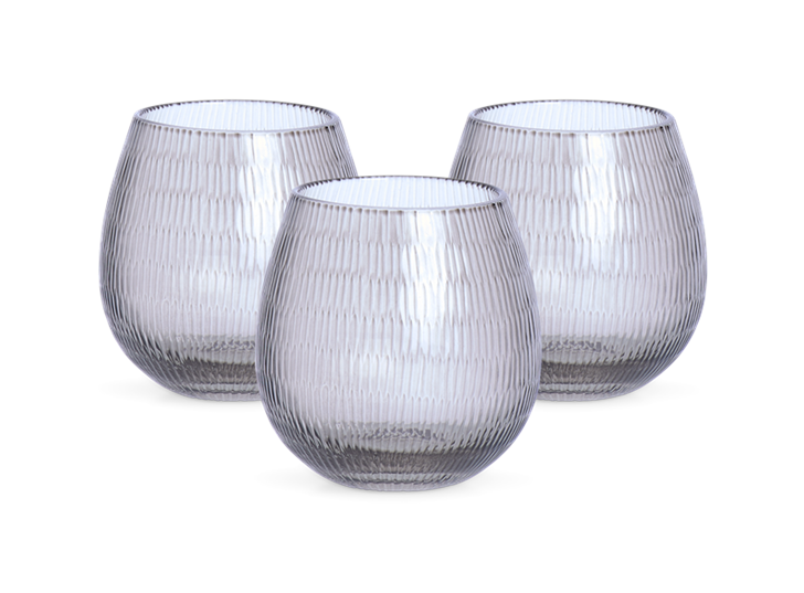Neve Tealight Holders, Set of 3 - Grey