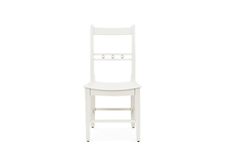 Suffolk Dining Chair_Painted_Silver Birch_Front