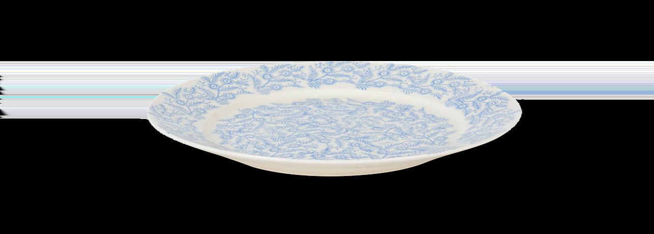 Olney dinner plate, flax blue_side