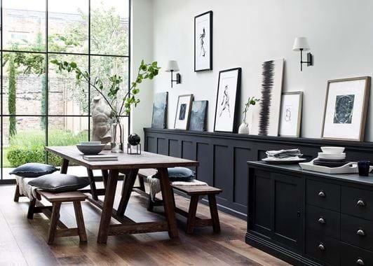 Arundel Darkened Oak Dining Table