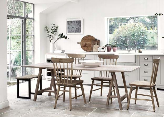 Hebden Trestle Table 230_Oak Top_Oak Legs_Kitchen Dining
