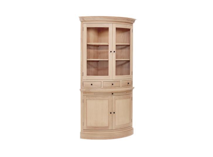 Henley Curved Oak Dresser Top 3Q Lights On