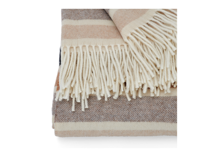 Castlefield Stripe Throw Mustard_Edge Detail