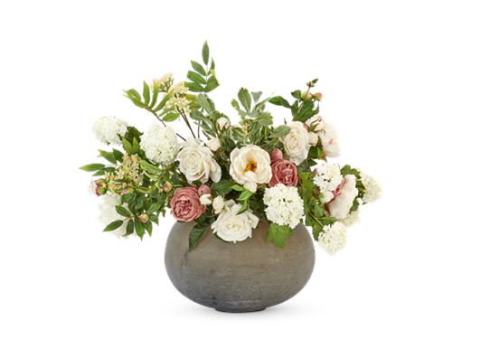 Peony & Rose Bouquet with Alconbury vase
