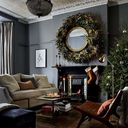 Eva living large wreath with mirror