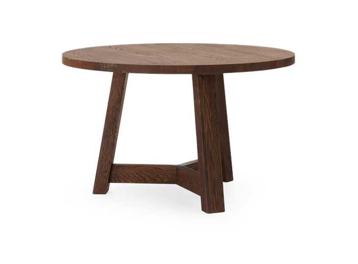 Arundel 120 Round Table Darkened Oak_3Quarter 2