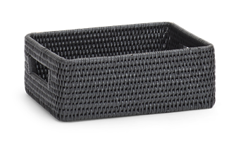 Ashcroft Rectangular Box Tray, Small, Charcoal