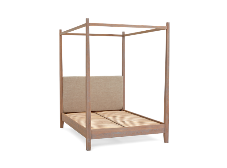 Wardley King Four Poster Bed Base Chalked Oak Holkam Sand 3Q