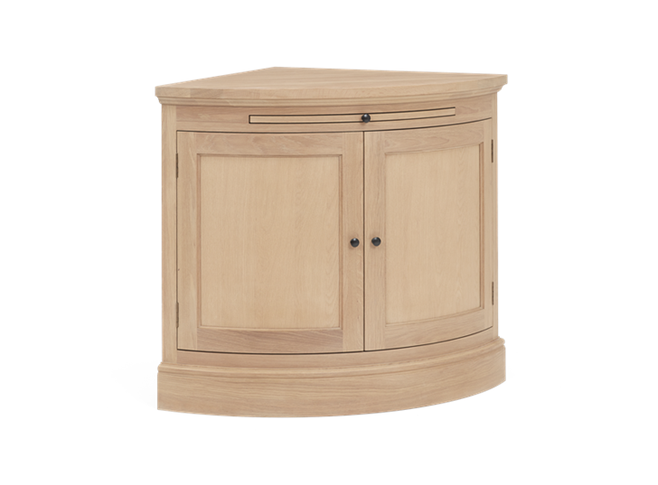 Henley Curved Oak Sideboard 3Q
