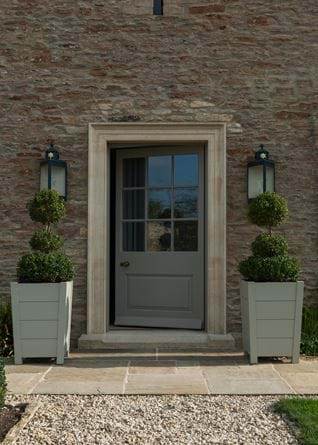 Southrop Tall Painted Planters