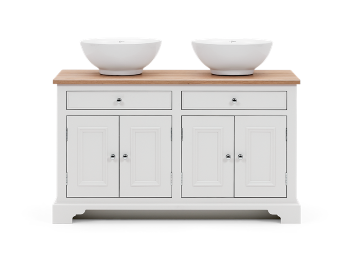 Chichester 1240 Oak Countertop Washstand -Shell-Shell Front