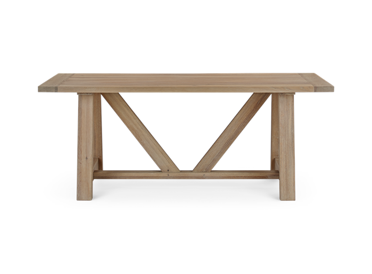Arundel 184 Rectangular Table_Natural Oak_Front