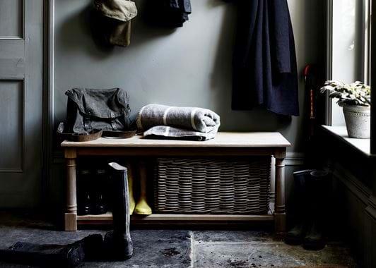 Somerton Bootroom Bench Basket