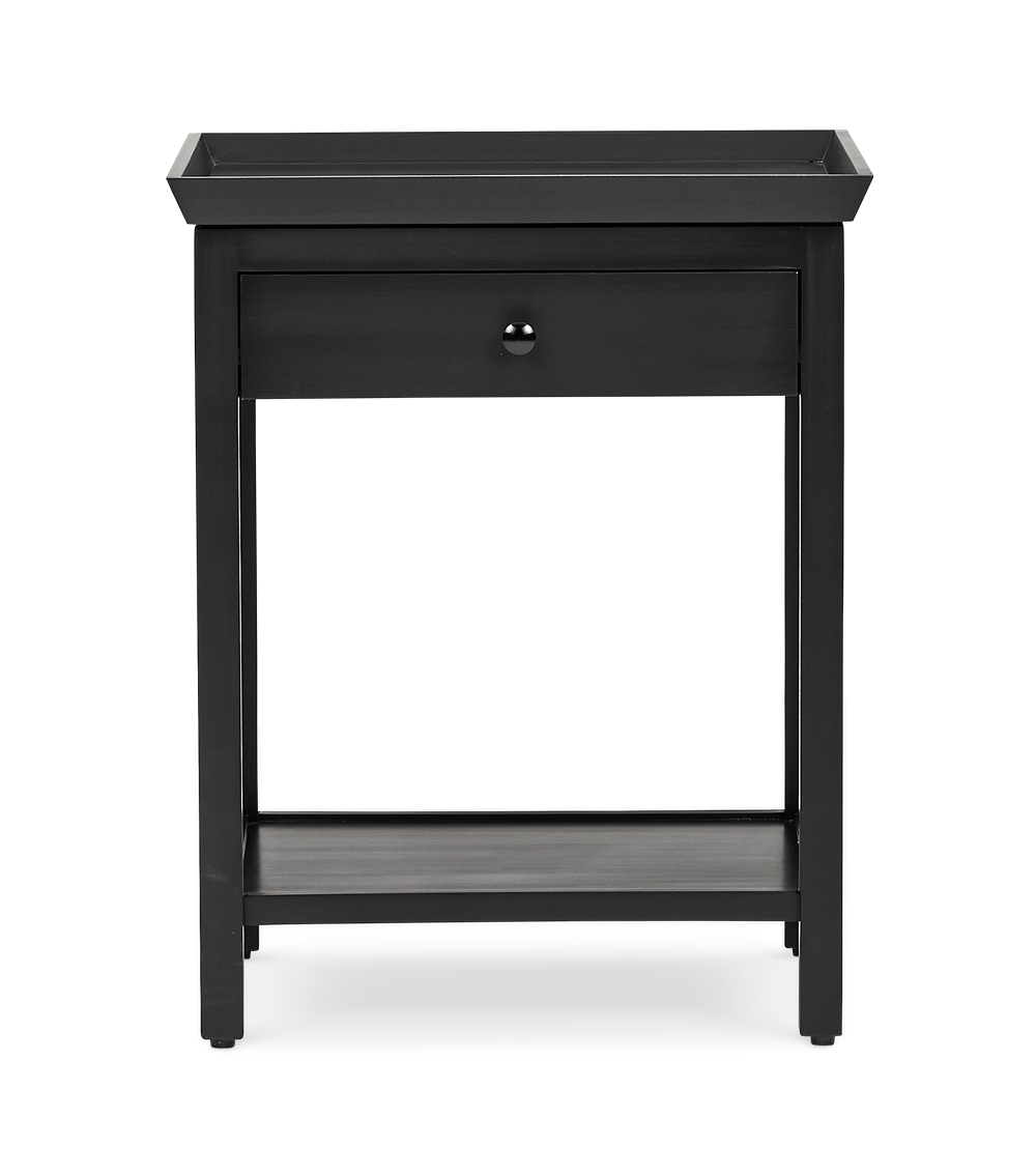 Aldwych tall side table Warm Black front