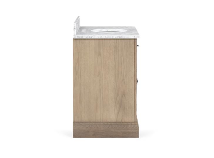 Edinburgh 1000 Dbl Undermount Washstand With Basin-D-Door-VO-Vintage Oak Side