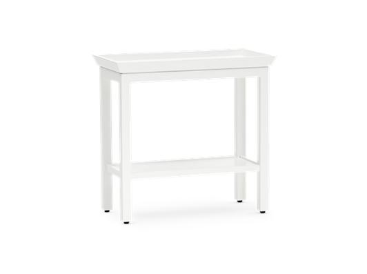 Aldwych rectangular side table Snow 3quarter