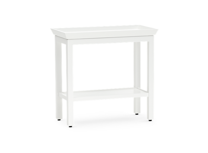 Aldwych rectangular side table Snow 3quarter