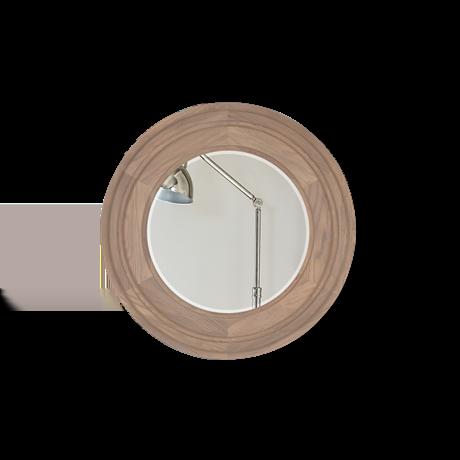 Edinburgh 67 Round Mirror - Vintage Oak 1