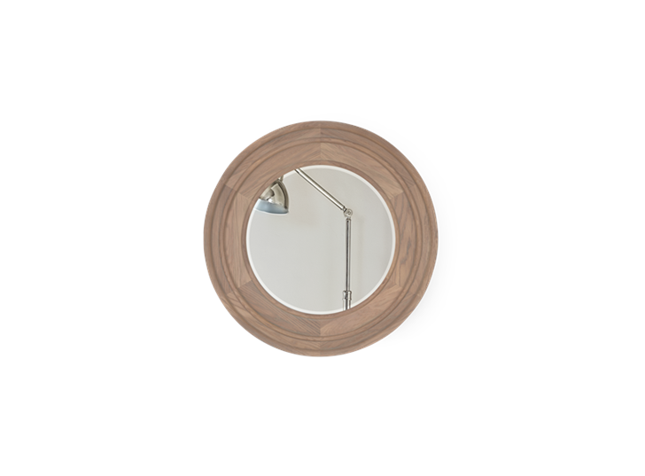 Edinburgh 67 Round Mirror - Vintage Oak 1