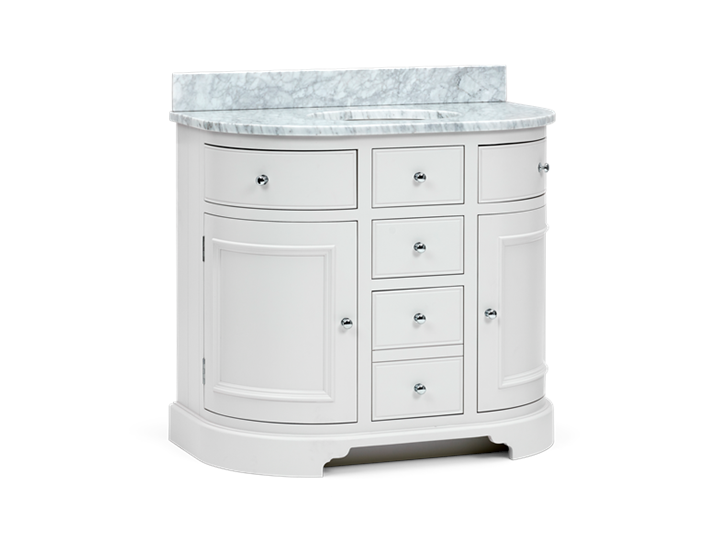 Chichester 960 Undermount Curved Washstand Only Shell-Shell 3Q