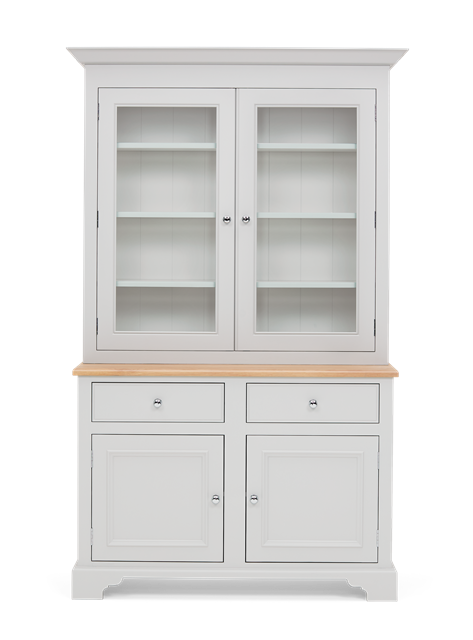 Chichester 4ft Glazed Rack Dresser Top Front