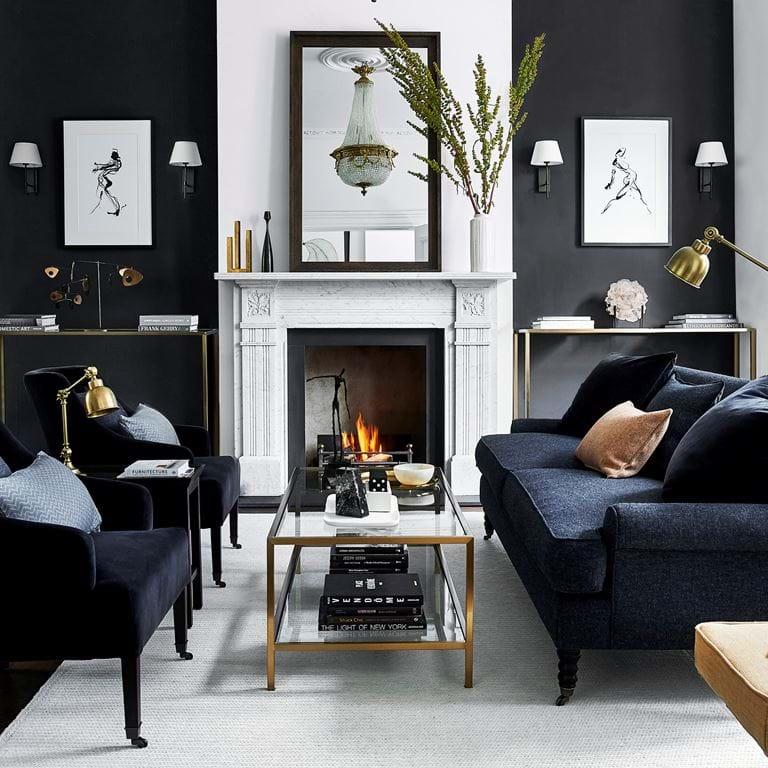Amelia George fireplace Ravenhead mirror
