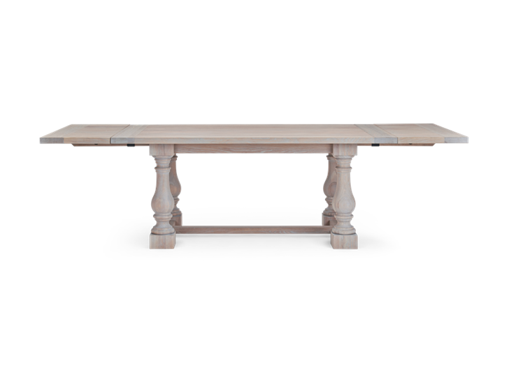 Balmoral 185-275 Extending Table_Seasoned Oak_FrontExtended